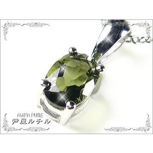 モルダバイトネックレス/天然宝石|ashiya-rutile