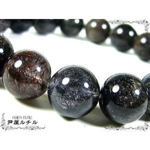 究極の魔除け水晶/ブラックデビルキラークオーツ/天然石パワーストーンブレスレット/11mm/3つ星|ashiya-rutile