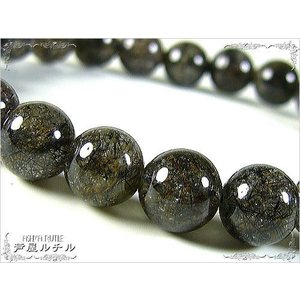 ブラックデビルキラー/究極の魔除け水晶/パワーストーンブレスレット/8mm/3つ星|ashiya-rutile