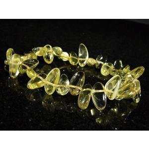 高品質/宝石クラス/さざれシトリン/天然石パワーストーンブレスレット【1点もの】|ashiya-rutile