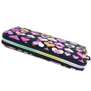 FlowerSpringカラフル長財布/ハート柄/使いやすいラウンドファスナー|ashiya-rutile