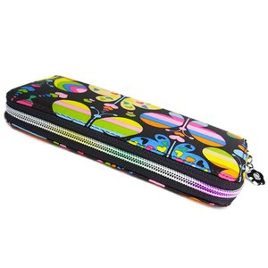 FlowerSpringカラフル長財布/バタフライ柄/使いやすいラウンドファスナー|ashiya-rutile