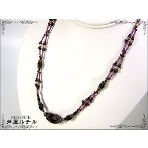 ガーネット/天然石ネックレス ashiya-rutile