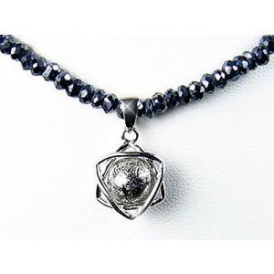 本物の隕石ギベオン&グレースピネル/コラボレーションネックレス|ashiya-rutile