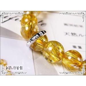 KIWAMI/宝石鑑別書付き/タイチンルチルクォーツ/天然石ジュエリーブレスレット/7mm/6つ星クラス|ashiya-rutile