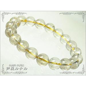 【一点もの】成功の石ルチルクォーツ!天然石パワーストーンブレスレット/10mm【初級】 ashiya-rutile