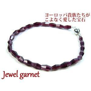 ガーネット/天然石パワーストーンブレスレット|ashiya-rutile