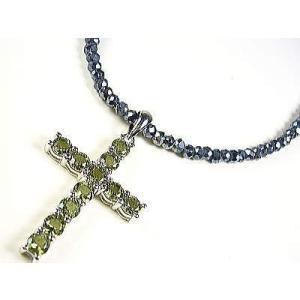 モルダバイト/ネックレス/十字架クロス(Lサイズ)/グレースピネル|ashiya-rutile