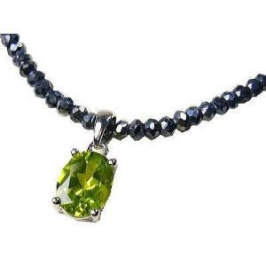 天然宝石ペリドット/グレースピネル/コラボ/宝石ネックレス|ashiya-rutile