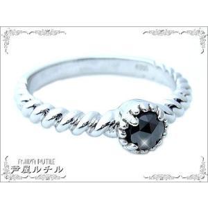 ブラックダイヤモンド/指輪/リング/スターリングシルバー|ashiya-rutile