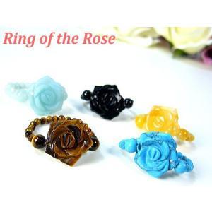 天然石カラフルローズの指輪/薔薇/バラ/ばら/リング|ashiya-rutile