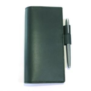 使いやすくて人気のほぼ日手帳WEEKS本革レザーカバー 。 落ち着いた色合いのブラック。