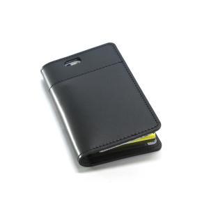 坂下仁特製ふせん台紙付き本革レザーiPhone6/6sカバー・本革ブラック|ashkyoto