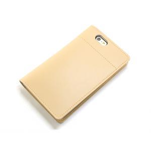 坂下仁特製ふせん台紙付き本革レザーiPhone6Plus/6sPlusカバー・本革ナチュラルベージュ|ashkyoto