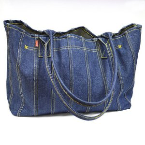 ASHOES&SUNS WORKS 巻き縫いデニムトートバッグ(小)(ROLLED SEAM DENIM TOTE BAG)|ashoesselect