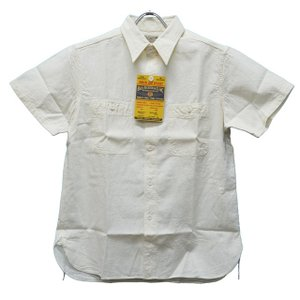 BUZZ RICKSON'S バズリクソンズ Chambray S/S Work Shirt 105OFFWHITE|ashoesselect
