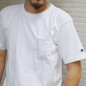 Tシャツ メンズ 半袖 無地 ポケット付 Champion チャンピオン T1011 MADE IN USA|ashoesselect