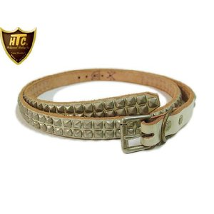 HTC ベルト #PYRAMID LONG 0.75inch BELT ANOTHER HEAVEN別注 WHITE/SILVER|ashoesselect