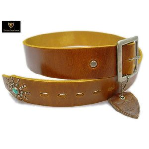 HTC ベルト #END ONLY TQ 1.75inch BELT L.BROWN|ashoesselect