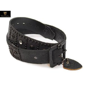 HTC BLACK ベルト #BT002 ROUGH OUT LEATHER 1.75inch BELT BLACK|ashoesselect