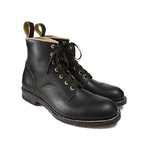 Makers メイカーズ 靴 CHAIN RACE UP BOOTS BLACK|ashoesselect