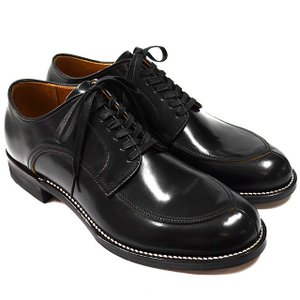 Makers メイカーズ 靴 V TIP BLUCHER 15AW BLACK|ashoesselect