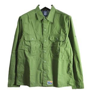 スタンダードカリフォルニア Standard California SD Coolmax Fabric Outdoor Field Shirt OLIVE SHOLA1501|ashoesselect