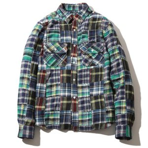 Subciety サブサエティ PATCHWORK SHIRT 103-20127|ashoesselect