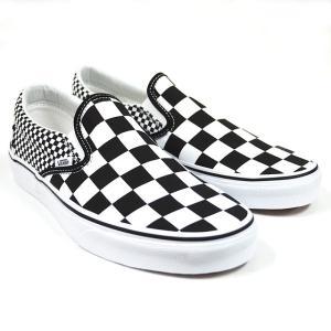 VANS スニーカー スリッポン バンズ CLASSIC SLIP-ON(Mix Checker) Lifestyle Black/TRUE WHITE VN0A38F7Q9B チェッカー|ashoesselect