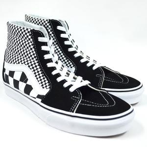 VANS スニーカー バンズ SK8-HI(Mix Checker) Lifestyle Black/TRUE WHITE VN0A38GEQ9B チェッカー|ashoesselect