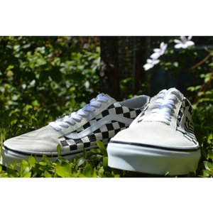 VANS スニーカー オールドスクール バンズ OLD SKOOL Lifestyle (Checkerboard) white/black VN0A38G127K チェッカー|ashoesselect|02