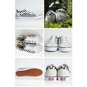VANS スニーカー オールドスクール バンズ OLD SKOOL Lifestyle (Checkerboard) white/black VN0A38G127K チェッカー|ashoesselect|03