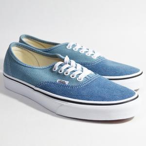 VANS スニーカー デニム オーセンティック バンズ AUTHENTIC Lifestyle (Denim 2-Tone) blue/true white VN0A38EMQ69|ashoesselect