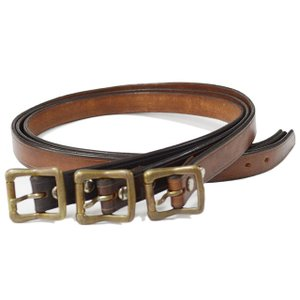 Vasco ヴァスコ LEATHER GARRISON BELT-NARROW|ashoesselect