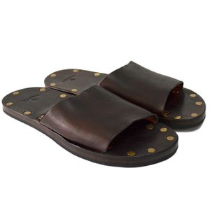 Vasco ヴァスコ LEATHER TRAVEL SANDAL BROWN|ashoesselect