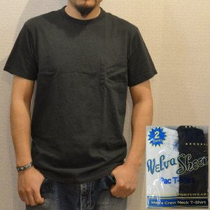 パックTシャツ メンズ 半袖 無地 ポケット付 Velva Sheen ベルバシーン 白と黒|ashoesselect
