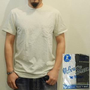 パックTシャツ メンズ 半袖 無地 ポケット付 Velva Sheen ベルバシーン 黒とオートミール|ashoesselect
