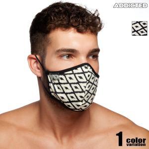 ADDICTED/アディクティッド  格子柄 布マスク 洗えるマスク