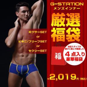 ポイント消化 2019円で4枚セット G-STATION/ジーステーション 男性下着 メンズ ビキニ ブリーフ ローライズ