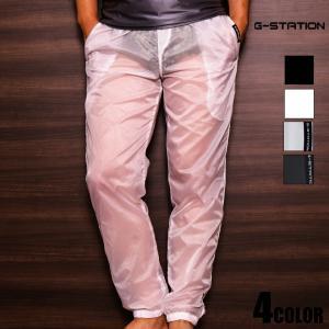 G-Station/ジーステーション シースルー ロングパンツ メンズファッション ジムウェア スポ...