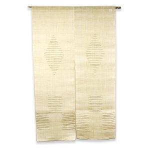 麻のれん / 和風・洋風 / ナチュラルカラー / 四角形+ひし形(ボーダーライン) / 90cm x 150cm / C-JN-R-251|asian-dream-net