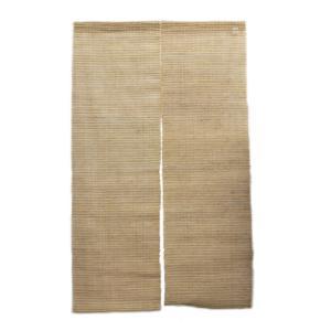 天然素材を大いに活かした麻のれん。(約90cm×約150cm) / C-JN-R43|asian-dream-net