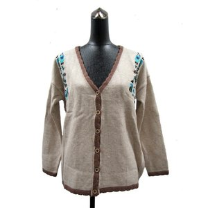 刺繍がキュート☆シンプルながらも縁取りがカワイイ♪あったかカーディガン☆/ CH-BL-1910 asian-dream-net