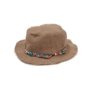 カラフルなビーズがアクセント!オールシーズン使える可愛い麻帽子♪ / CH-H-1|asian-dream-net