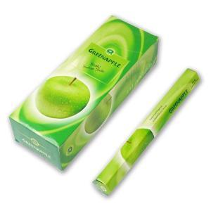 GR GREEN APPLE (ジーアール グリーンアップル) / お香(スティック)/ インド香 / インセンス / アロマ / 6角箱×6本セット / I-I-GR-36|asian-dream-net