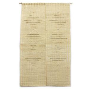 風通しの良い麻素材の和風のれん (約90cm×約150cm) / R-16|asian-dream-net