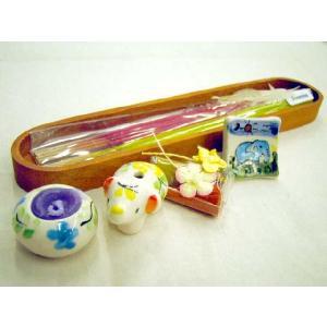 デザインが可愛いキャンドルとお香のセットがたくさんのセットが5個!プレゼントにも◎ / アロマキャンドルセット / T-IC-8|asian-dream-net