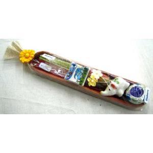 デザインが可愛いキャンドルとお香のセットがたくさんのセットが5個!プレゼントにも◎ / アロマキャンドルセット / T-IC-8 asian-dream-net 02