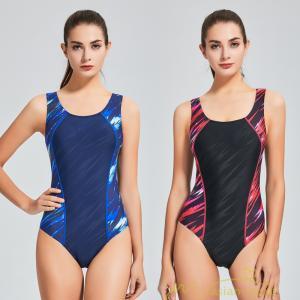 水着 レディース 体型カバー スポーツ フィットネス 競泳用水着 パット付き 袖なし ワンピース水着...