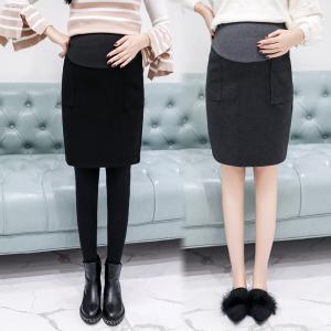 マタニティスカート 厚手 大きいサイズ 妊娠 妊婦さん 妊婦 マタニティウエア ミディアム レディース スカート ゴム マタニティ ボトムス タイトスカート